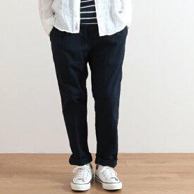 【今だけポイント10倍】メンズ ジョンブル コットンリネンイージーパンツ Johnbull Cotton Linen Easy Pants 21166 ブラック(30) ネイビー(51)