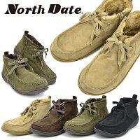 NorthDate/ノースデイト/ノースデートレディースワラビーモカシン防滑撥水あたたかい防寒靴スノトレスノートレ雪靴秋靴冬靴スノーシューズウインターシューズJB1145あす楽対応_北海道BOS