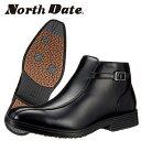 North Date/ノースデイト/ノースデート メンズ 冬靴 ビジネスシューズ スノーブーツ ビジネスブーツ 防滑 鉄ピン ピンスパイク スチー…