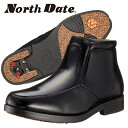 ノースデイト メンズ 紳士靴 ブーツ スノーシューズ スノーブーツ ビジネスシューズ 防滑 鉄ピン ピンスパイク スチールピン 雪道対応 防水 合皮 4E ノースデート North Date 4E ND552 BH552 あす楽対応_北海道 BOS