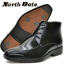 ノースデイト メンズ 紳士靴 ブーツ スノーシューズ ビジネスシューズ ショートブーツ 防滑 鉄ピン ピンスパイク スチールピン 内側フ…