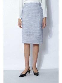 【SALE/60%OFF】ツィードセットアップスカート BOSCH ボッシュ スカート スカートその他 ブルー グレー【RBA_E】【送料無料】[Rakuten Fashion]
