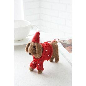 フェルトデコ・ダックス PI-01 ◆◆ PL1 COVENTGARDEN 犬 ダックスフント 人形 クリスマス オーナメント 置物 デコレーション 雑貨 おもちゃ インテリア アニマル アンティーク調 プレゼント