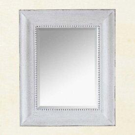 フレンチウッドミラー ホワイト Sサイズ SQM701S □□ CL5 SPICE スパイス フレンチミラー 鏡 壁掛け ホワイト 白 ゴージャス クラシック 洗面 化粧 プレゼント