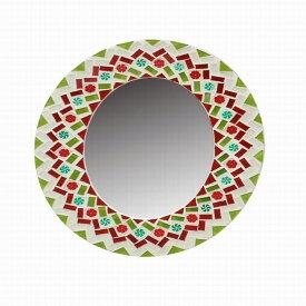 【数量限定】FOI モザイクオーバルミラー MIX QMDT2020MX ◆◆ CL4 SPICE スパイス 鏡 かがみ ウォールミラー 壁掛け 丸型 花 エレガント かわいい おしゃれ シンプル アンティーク調 プレゼント 引越し祝い 結婚祝い おしゃれ 個性的 ユニーク かわいい オーバル