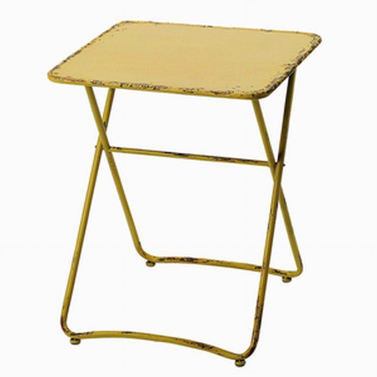 テーブル 折りたたみ ガーデン ディスプレイ用インテリアテーブル ジョーヌテーブル TA870 □□ EL 友膳 送料無料 インテリア アンティーク シャビー ディスプレイ セール プレゼント