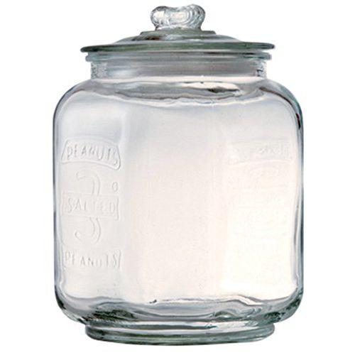 ピーナッツジャー NO.3 22309 □□ DL5 POSH LIVING 小物入れ ガラス ガラス瓶 ガラスジャー クリア ビン 容器 保存容器 保存瓶 ふた付き 収納 ディスプレイ おしゃれ 人気 キャニスター ストック キッチン 雑貨 米びつ ポッシュリビング プレゼント 母の日