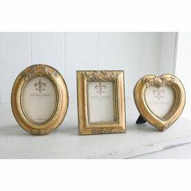 ゴールドミニフレーム オーバル レクト ハート KB-09 KB-10 KB-11 □□ CL4 COVENT GARDEN 額縁 コベントガーデン コベント ガーデン 写真たて 写真立て フォト フレーム 置き型 壁掛け シャビー アンティーク プレゼント