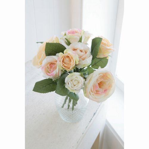 TT-18 □ I5 ピンクピーチローズ・ブーケ コベントガーデン コベント ガーデン COVENT オブジェ 置物 造花 フェイクフラワー 花束 花 フラワー ディスプレイ バレンタイン プレゼント