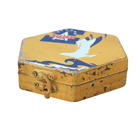 レトロアイアンボックス A ヘキサゴン IB01 □□ BR4 カルナック 収納 収納箱 おしゃれ ディスプレイ サビ 錆び アンティーク調 シャビー プレゼント