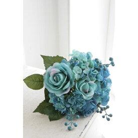 ブルーローズ・ブーケ TT-13 ■■ COVENT GARDEN オブジェ バラ 青色 置物 造花 フェイクフラワー 花束 花 フラワー ディスプレイ プレゼント
