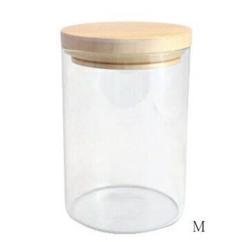 【クーポンでさらに値引き】 ガラス瓶 小物 ガラスウェア キャニスターM SH88 □【BL3】 ガラス瓶 ガラス容器 容器 ガラス 木 ウッド 木のフタ キャンディーポット キャンディージャー 小物入れ 小物 置物 ディスプレイ CAFE レトロ クリア 駄菓子屋 カルナック
