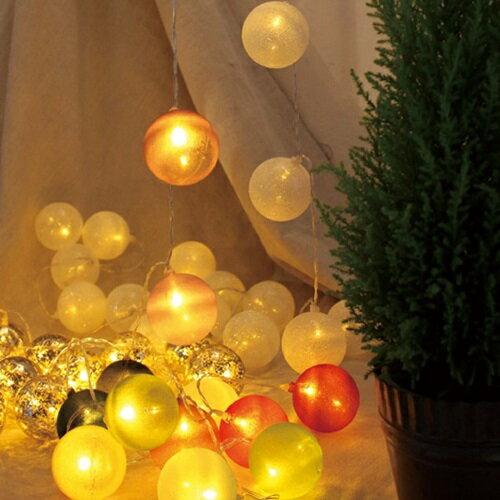 アメイジング LEDボールガーランド KCXG3500 KCXG3510 KCXG3520 KCXG3530 KCXG3540 KCXG3560 □□ PR4 SPICE スパイス クリスマスガーランド ホワイトニット ゴールド カラフルニット ホワイトビーズ 装飾 飾り ディスプレイ オーナメント クリスマス