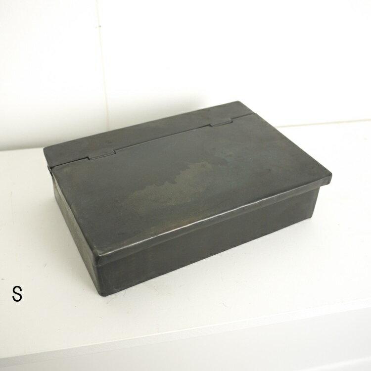 IRON カバードBOX S 308805 □□ OR6 志成 アイアン ワークボックス ブラック 黒 小物入れ 小物収納 ケース ボックス フタ付きボックス 道具箱 整理 シンプル 男前インテリア アンティーク調 ジャンク 収納 収納ボックス ツールボックス インダストリアル
