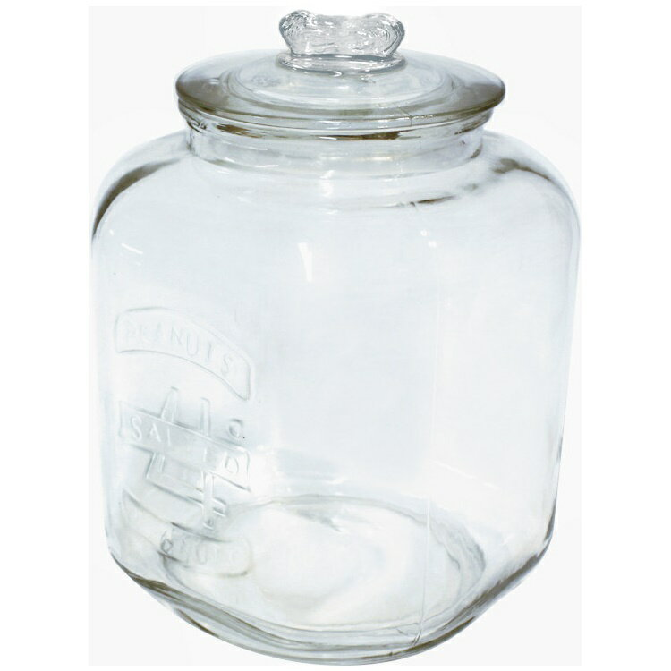 ピーナッツジャー No.4 22350 □ OR6 小物入れ ガラス ガラス瓶 ガラスジャー クリア ビン 容器 保存容器 保存瓶 ふた付き 収納 ディスプレイ おしゃれ 人気 キャニスター ストック キッチン 雑貨 米びつ ポッシュリビング バレンタイン プレゼント