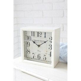 ●●デュポン・ボックスクロック FT-03 □□ CR4 COVENT GARDEN 置き時計 時計 壁掛け 掛け時計 置き掛け兼用 クロック ホワイト 白 シンプル 四角 おしゃれ シャビー アンティーク コベントガーデン コベント ガーデン プレゼント