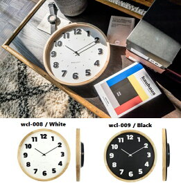 壁掛け時計 バウハウス『Alfarn』復刻フォント・ウォールクロック ホワイト ブラック wcl-008-009 □□ B☆ エルコミューン 時計 壁掛け時計 掛け時計 掛時計 壁掛け アナログ時計 おしゃれ アンティーク調 調 円形 丸型 インテリア 白色 白 シンプル ウォールクロック