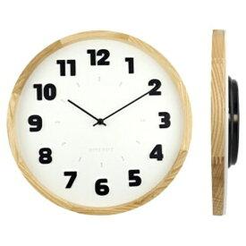 壁掛け時計 バウハウス『Alfarn』復刻フォント・ウォールクロック ホワイト wcl-008 □□ B☆ エルコミューン 時計 壁掛け時計 掛け時計 掛時計 壁掛け アナログ時計 おしゃれ アンティーク調 調 円形 丸型 お手頃 インテリア 白色 白 シンプル ウォールクロック