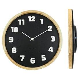 壁掛け時計 バウハウス『Alfarn』復刻フォント・ウォールクロック ブラック wcl-009 □□ B☆ エルコミューン 時計 壁掛け時計 掛け時計 掛時計 壁掛け アナログ時計 おしゃれ アンティーク調 調 円形 丸型 お手頃 インテリア 黒色 黒 シンプル ウォールクロック