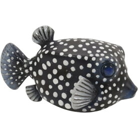 OCEAN MAG WHITE SPOTTED BOXFISH 3402 □□ BR6 magnet フグ ディスプレイ オブジェ 動物 魚 オブジェ 置物 磁石 おしゃれ インテリア ガーデン オーナメント マグネット コレクション インスタ 雑貨 プレゼント
