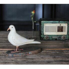 ドーブ Dove 9111 □□ CR2 magnet オブジェ アンティーク調 レトロ 動物 鳥 アニマル 白鳩 フィギュア リアル 木製 インテリア 雑貨 プレゼント