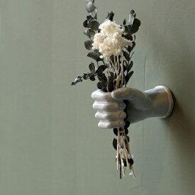 AS POTTERY WALL HAND □□ C☆ WVT 手 ハンド 片手 オブジェ 陶器 置物 彫刻 花器 アズポタリー 壁面 壁面インテリア ウォールデコ 壁掛け WEST VILLAGE TOKYO ウエストビレッジ プレゼント ホワイト 白 グリーン 緑