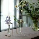 PIKE stand brass vase □□ BL1 WVT 一輪挿し フラワーベース 真鍮 花 ガラス 壁面 インテリア 壁掛け おしゃれ リビング グリーン ガ…