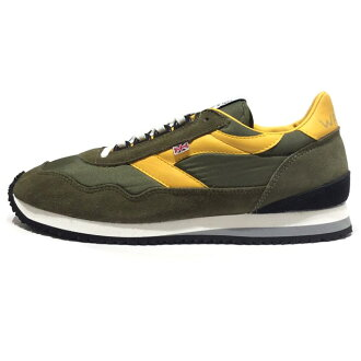 WALSH Walsh men's women's sneaker Ensign OLV/YLW ENS70013 [Olive / yellow / marathons / running / shoes / England / United Kingdom / United Kingdom]