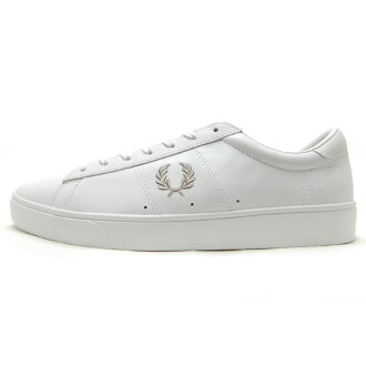 FRED PERRY men sneakers LEATHER SPENCER Spencer leather WHITE B5205-200