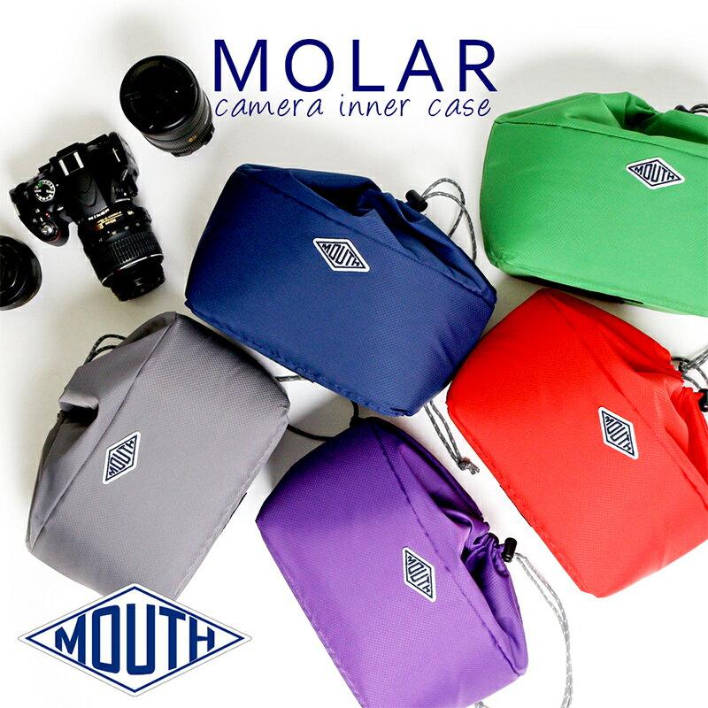 カメラケース 巾着 インナーバッグ ソフトクッション MOUTH マウス MOLAR 2 モラー2 巾着 インナーケース カメラバッグ MJC15048 [巾着型/折りたたみ/かわいい/女子/男女兼用/シンプル/おしゃれ/ケース/一眼レフ/ミラーレス/デジカメ]