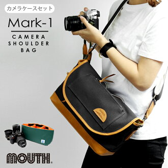Camera bag DSLR Mirrorless Lens Shoulder bag Canvas Real reather MJS11019 Delicious Mark-1 Camera case set Made in JAPAN OSAKA