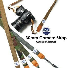 カメラストラップ 一眼レフ ミラーレス 30ミリ Delicious Camera Strap MJC13029-30mm MOUTH マウス CORDURA コーデュラナイロン 男女兼用 日本製 おしゃれ 帆布 カメラ女子 キャンバス かわいい カメラ ネックストラップ