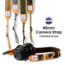 カメラストラップ 一眼レフ ミラーレス 40ミリ Delicious Camera Strap MJC13031-40mm MOUTH マウス CORDURA コーデュラナイロン 男女兼用 日本製 おしゃれ 帆布 カメラ女子 キャンバス かわいい カメラ ネックストラップ