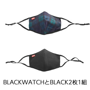 クローム マスク 洗える シチズン フェイス マスク CHROME CITIZEN FACEMASK BLACK/BLACKWATCH メンズ M/Lサイズ 布マスク おしゃれ SURVIVAL GEAR AC206BKBW