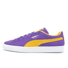 【SUEDEキャンペーン対象】 プーマ スウェード チームス PUMA SUEDE TEAMS PRISM VIOLET / SPECTRA YELLOW メンズ レディース スニーカー NBA LOS ANGELS LAKERS/ロサンゼルスレイカーズ 380168-03