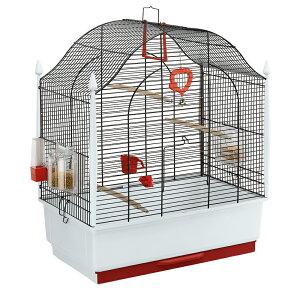 【送料無料】イタリアferplast社製 鳥かご ヴィラ ブラック Villa Gold 鳥籠 ゲージ フルセット カナリア セキセイインコ 小型鳥用