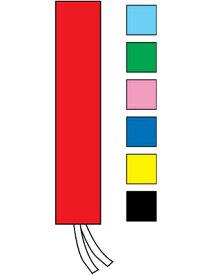 07400201 選挙用タスキ 無地 (綿100%)カラー【選挙】※受注生産品