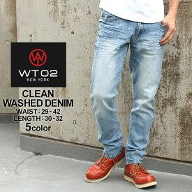 wt02 ジーンズ メンズ ストレート デニム メンズ ジーパン メンズ デニムパンツ メンズ ジーンズ メンズ 裾上げ 大きいサイズ メンズ パンツ ボトムス 夏 (USAモデル)