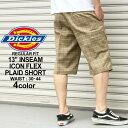 ディッキーズ ハーフパンツ Dickies wr991 ハーフパンツ メンズ ひざ下 チェック柄 チェックショーツ 大きいサイズ メンズ ハーフパンツ 夏 (USAモデル)