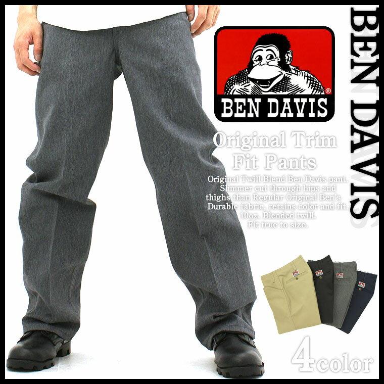 ベンデイビス BEN DAVIS ベンデイビス ワークパンツ メンズ 大きいサイズ メンズ トリムFIT [BEN DAVIS ベンデイビス ワークパンツ 大きいサイズ BENDAVIS ワークパンツ ベンズ チノパン ベンデイビス パンツ 大きいサイズ メンズ 黒 ブラック] (USAモデル)