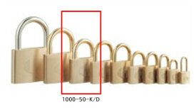 【送料無料】《 セット販売:6個 》アルファの真鍮製南京錠 定番の1000シリーズ [1000-50K D(鍵違い)] - アルファ