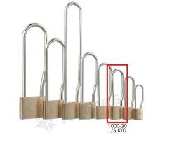 【送料無料】《 セット販売:6個 》真鍮製南京錠 定番の1000シリーズ 吊長タイプ [1000-30 L S K D(鍵違い)] - アルファ