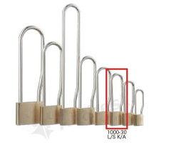 【送料無料】《 セット販売:6個 》真鍮製南京錠 定番の1000シリーズ 吊長タイプ [1000-30 L S K A(同一キー)] - アルファ