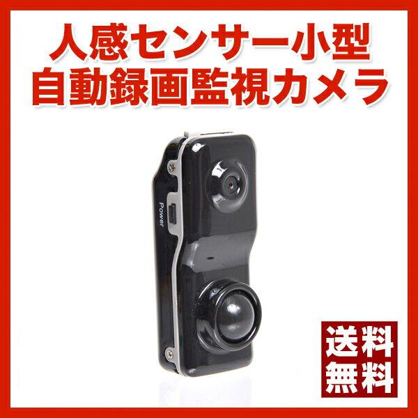 【送料無料】【ポイント2倍】消しゴムくらいの小型のサイズ/人感センサー小型自動録画監視カメラ[DMTH007]-サンコー お年玉/プレゼント