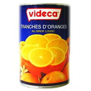 ビデカ オレンジスライス皮付 410g 【菓子材料・パン材料・オレンジ・輪切り・シロップ漬】
