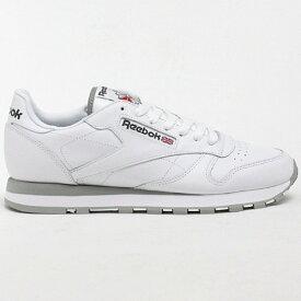 20FW reebok CL LTHR INTホワイト/グレー リーボック クラシックレザー スニーカー 靴 シューズ メンズ 男性用 クラシック 送料区分:S [SALE]
