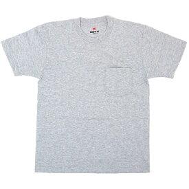 Hanes BEEFY POCKET T-SHIRT ヘザーグレー ヘインズ ビーフィー ポケット Tシャツ 国内正規品 アパレル 半袖 メンズ 男性用 トップス 胸ポケット 送料区分:S