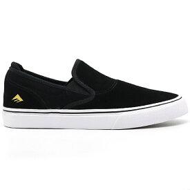 Emerica WINO G6 SLIP-ON BLACK/WHITE/GOLD エメリカ ワイノ スリップオン 国内正規品 スケートボード スケシュー スニーカー 靴 メンズ 送料区分:S