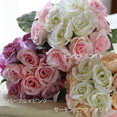 「12輪のバラを束ねたミニブーケ」【ウェディング】【送料無料】【ホワイトデー】