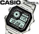CASIO カシオ クオーツ 腕時計 メンズ レディース デジタル AE-1200WHD-1A おすすめ スクエア フェイス ワールドタイム ステンレス ベルト チプカシ